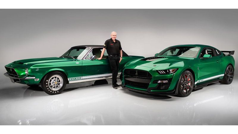 First Ford Mustang Shelby Gt500 Off The Line Gets Bespoke Green