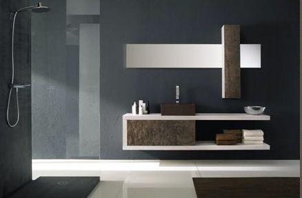 Natural Stone Finish Vanity From La Roccia  Nuda Vanity Cool Modern Bathroom Vanity Design Ideas