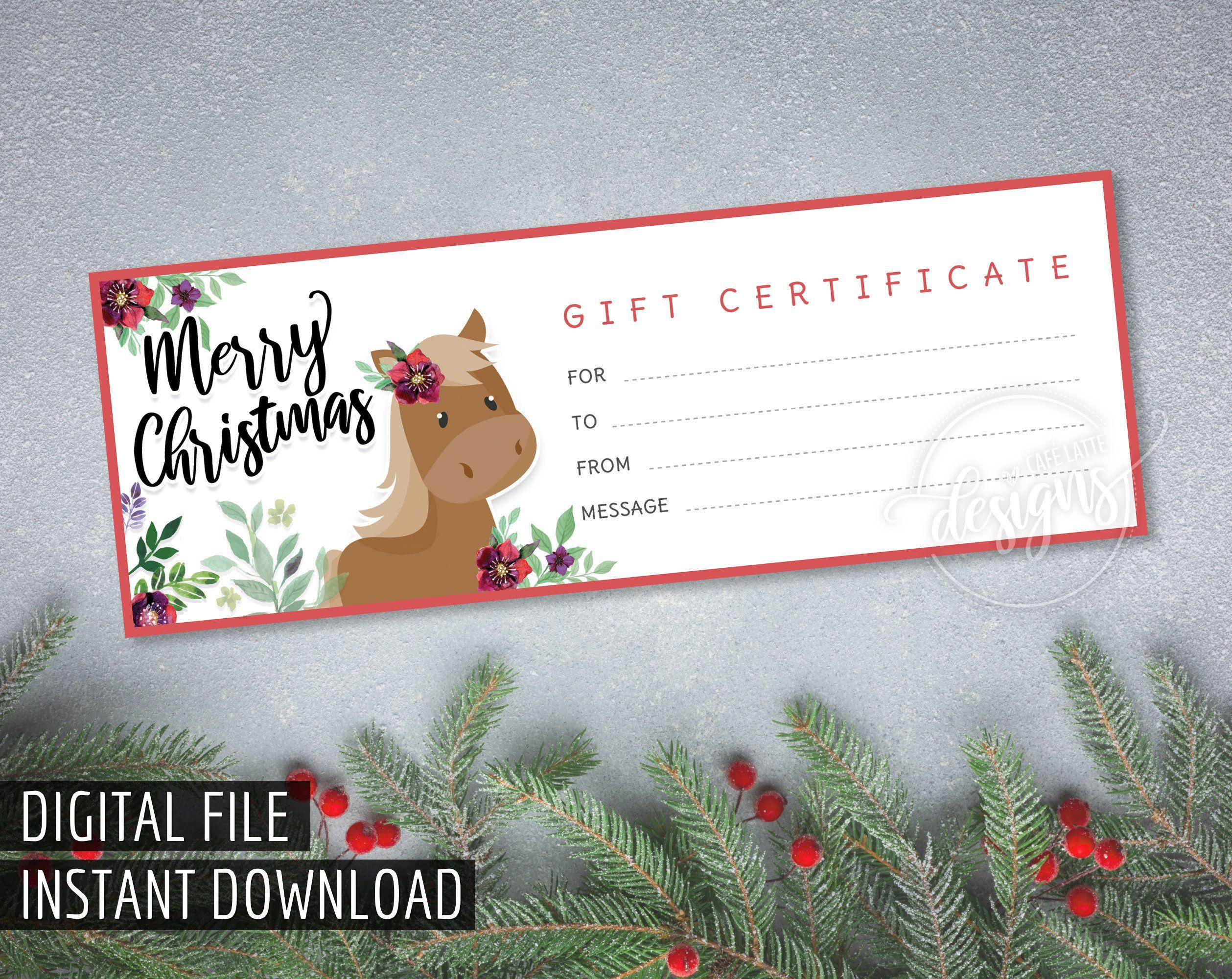 Horseback Riding Gift Certificate Template Elegant 25 4x9 Cute Rustic Blank Gift Cert In 2020 Gift Certificate Template Holiday Gift Certificates Certificate Templates