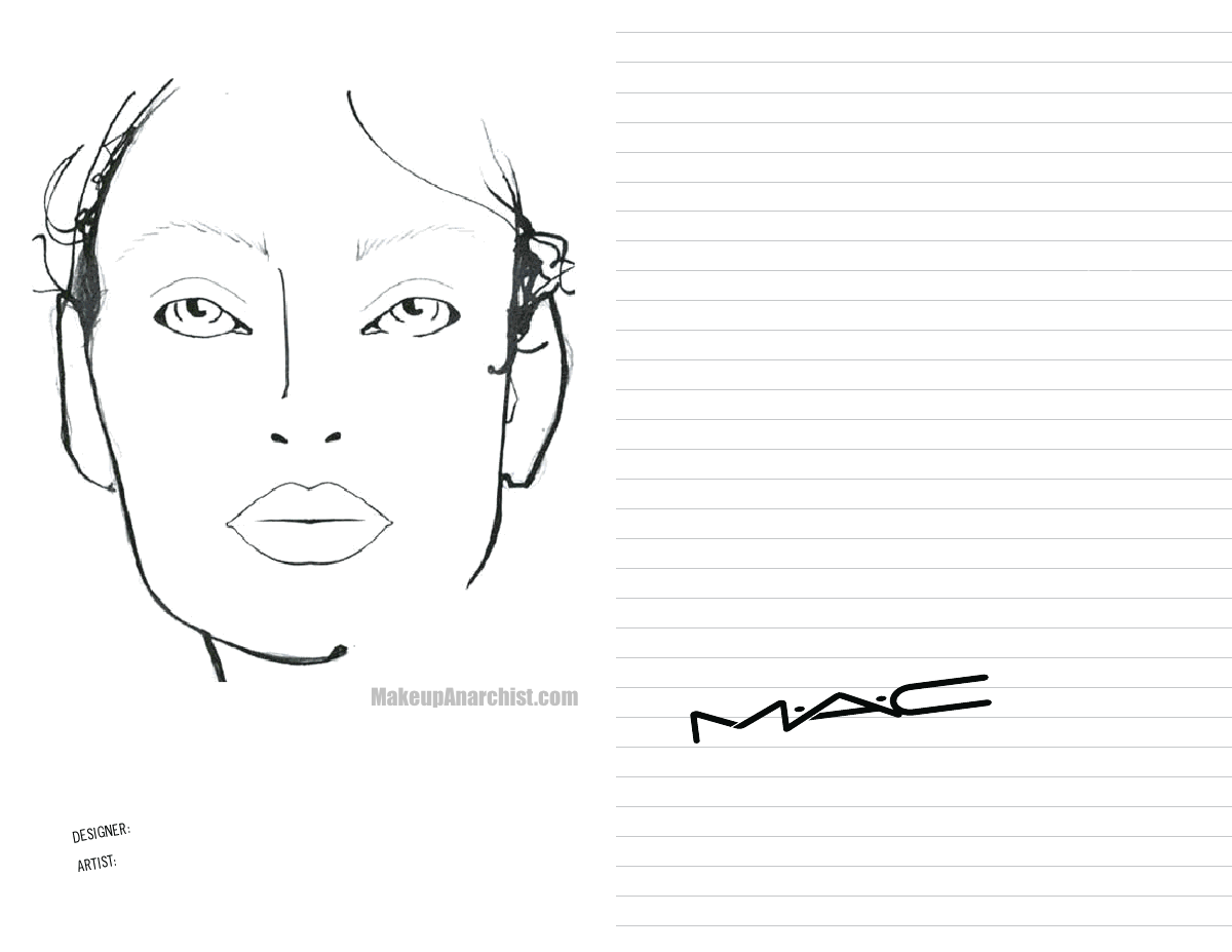 graphic relating to Printable Mac Face Charts named Pin by means of Inez barron upon Drawing hints Mac confront charts