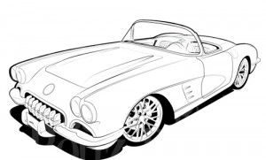 Products Page Bad Bonz Designs Cars Coloring Pages Cool Car Drawings Corvette Art