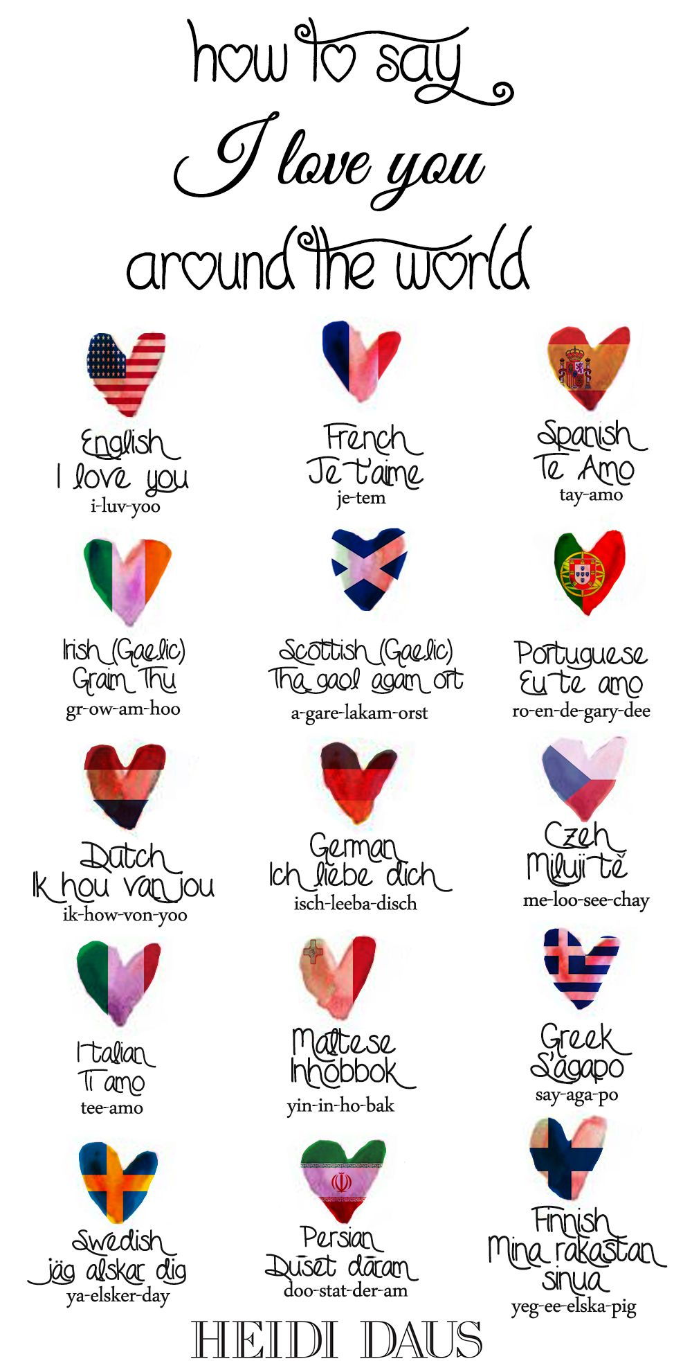 How to say i love you around the world learn english