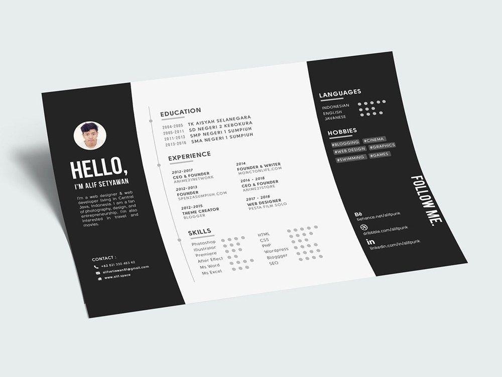 Epingle Sur Resume Design Creative