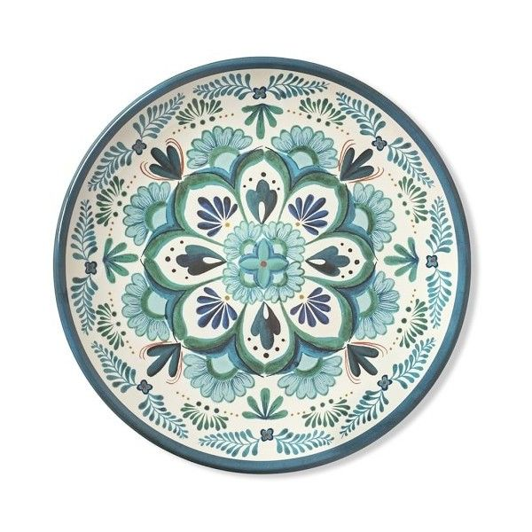 Veracruz Blue Melamine Salad Plates Set Of 4 42 Liked On