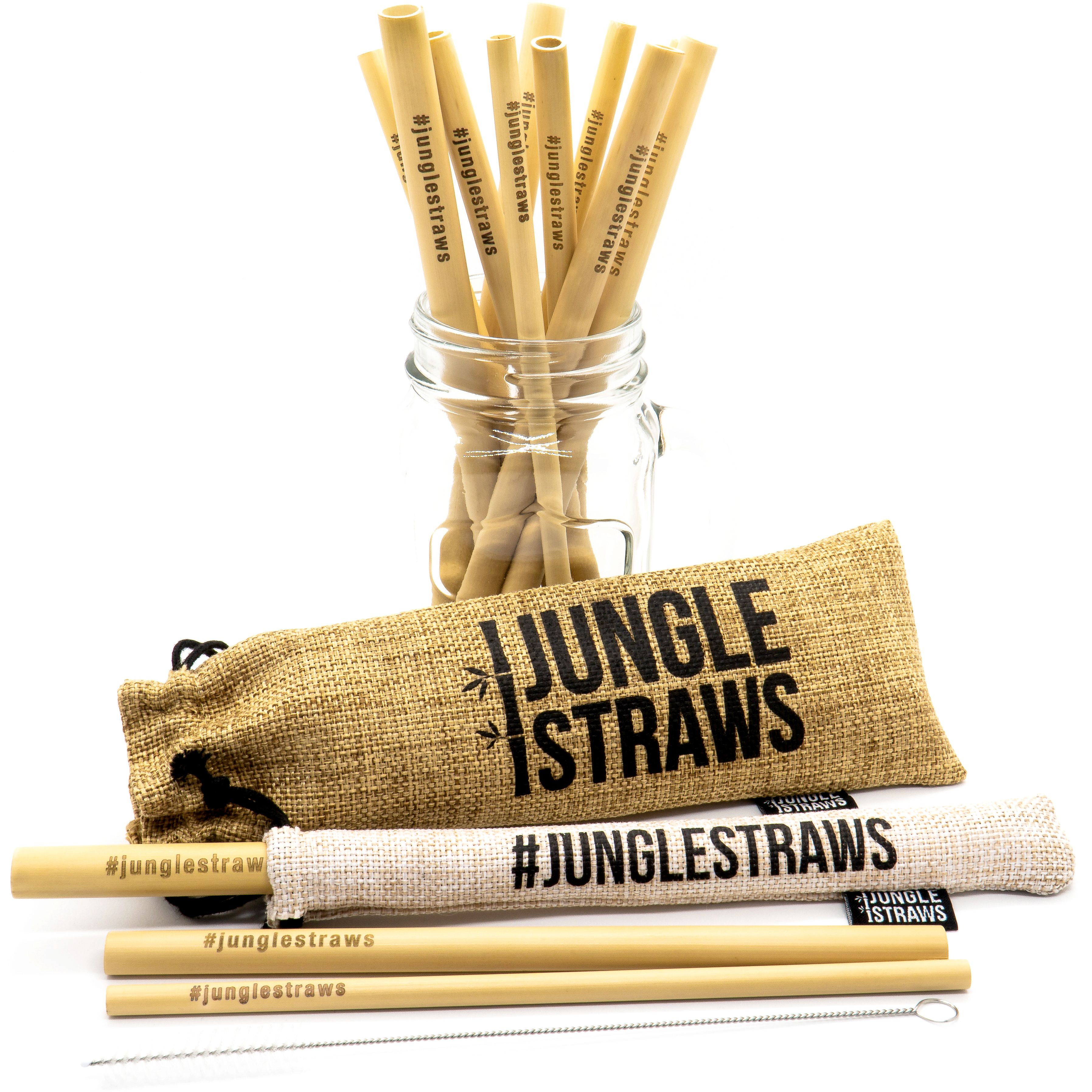 Our sustainable bamboo straws are 100% organic, handmade, and