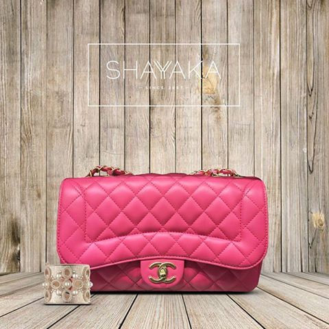 04210d9405361a Chanel Mademoiselle Chic Classic Flap Bag in Hot Pink Calfskin with Gold  Hardware | Medium Size