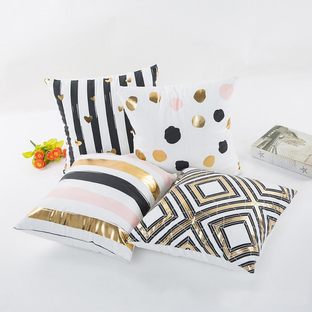 Black and gold pattern throw pillows gold pattern unique wall art