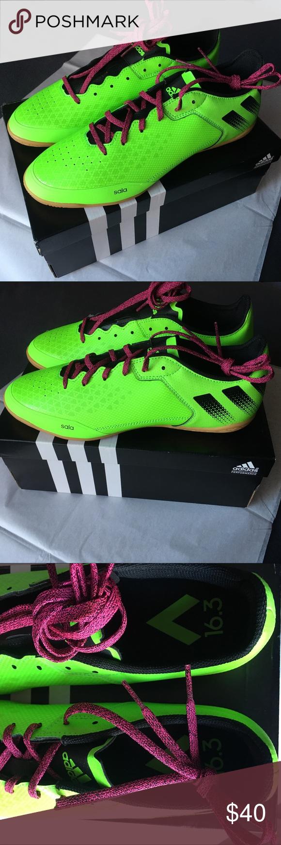 Zapatillas de fútbol Adidas: fútbol Shock Green Zapatillas/ Black Black/ Shock Pink NWT   b30c296 - grind.website