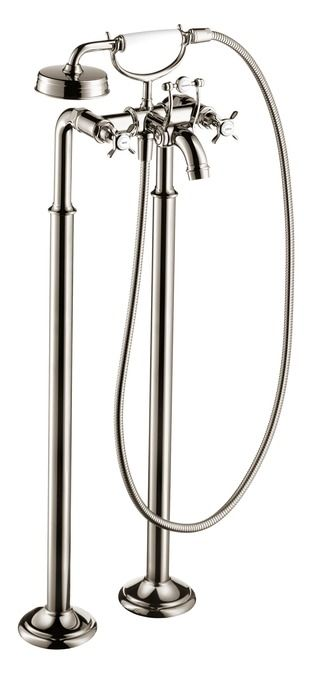 Shop for the Hansgrohe 16553001 Chrome Axor Montreux Roman Tub Filler Faucet  Freestanding with Diverter  Metal Lever Handles  Techniflex Hose and Single   Axor Montreux Freestanding 2 Handle Tub Filler Trim with Cross  . Tuscany Roman Tub Faucet. Home Design Ideas