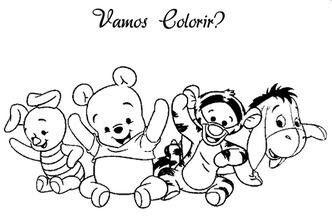 Turma Do Pooh Baby Com Imagens Paginas Para Colorir Da Disney