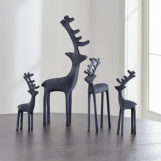 Silver Reindeer | Crate and Barrel
