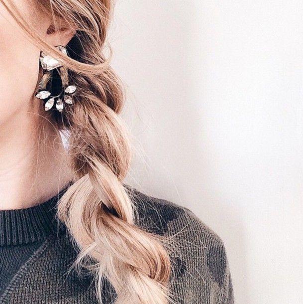 Superb Jewels: Tumblr Statement Earrings Earrings Jewelry Braid Hairstyles Blonde  Hair