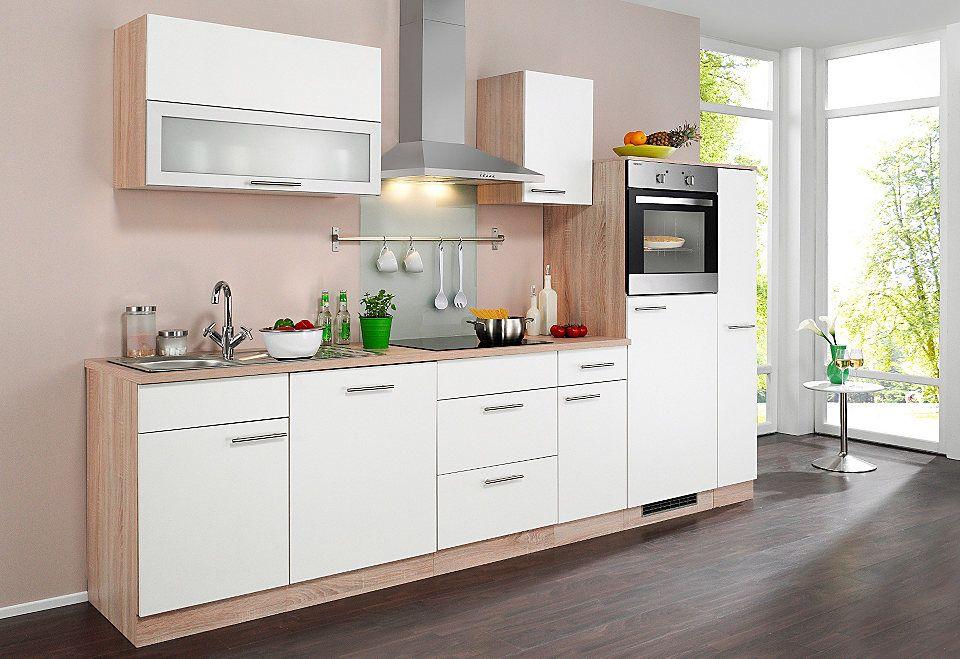 Wiho Küchen Küchenzeile »Montana«, mit Elektrogeräten, Breite 300 - küchenblock mit elektrogeräten