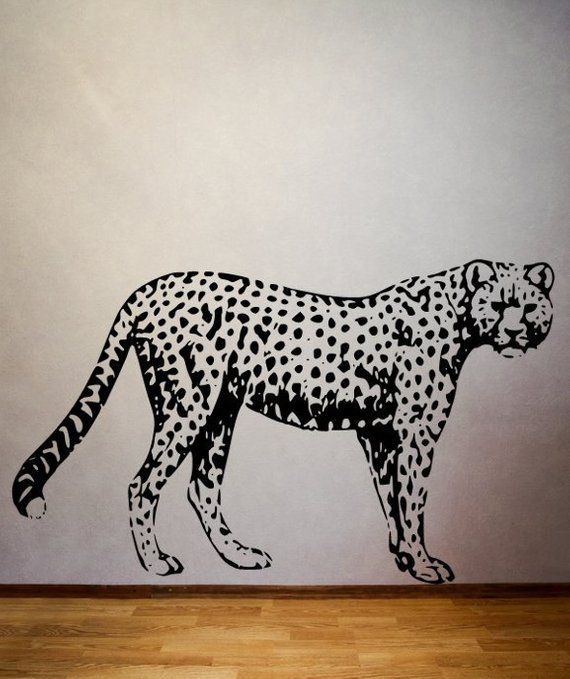 Leopard Stencil Cheetah Spots Wild Animal Safari Zoo Wall Art Chic Signs