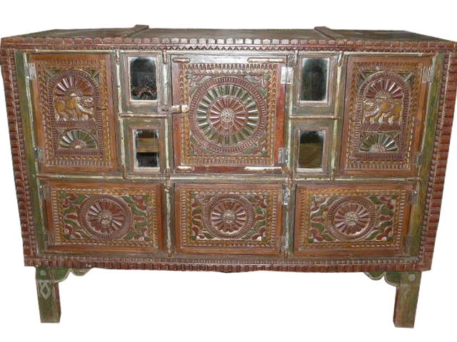 Antique tribal jaipur sideboard buffet furniture india for Indische kuchenmobel