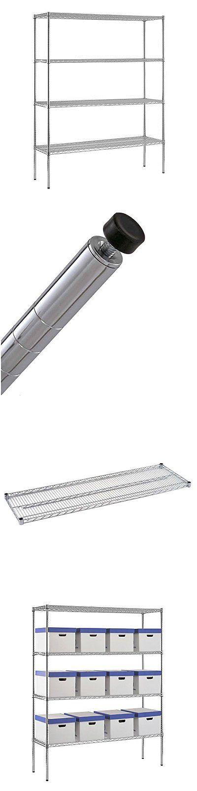 Shelves 134649: Sandusky Chrome Steel Hd Wire Shelving 2400 Lbs Capacity 60In Width X 74In Heigh -> BUY IT NOW ONLY: $145.62 on eBay!