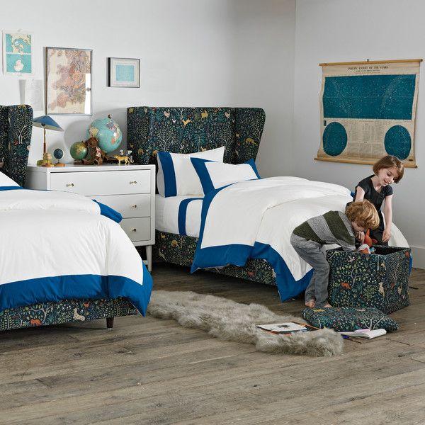 Good DwellStudio Modern Border Kids Navy Duvet Set Home Design Ideas