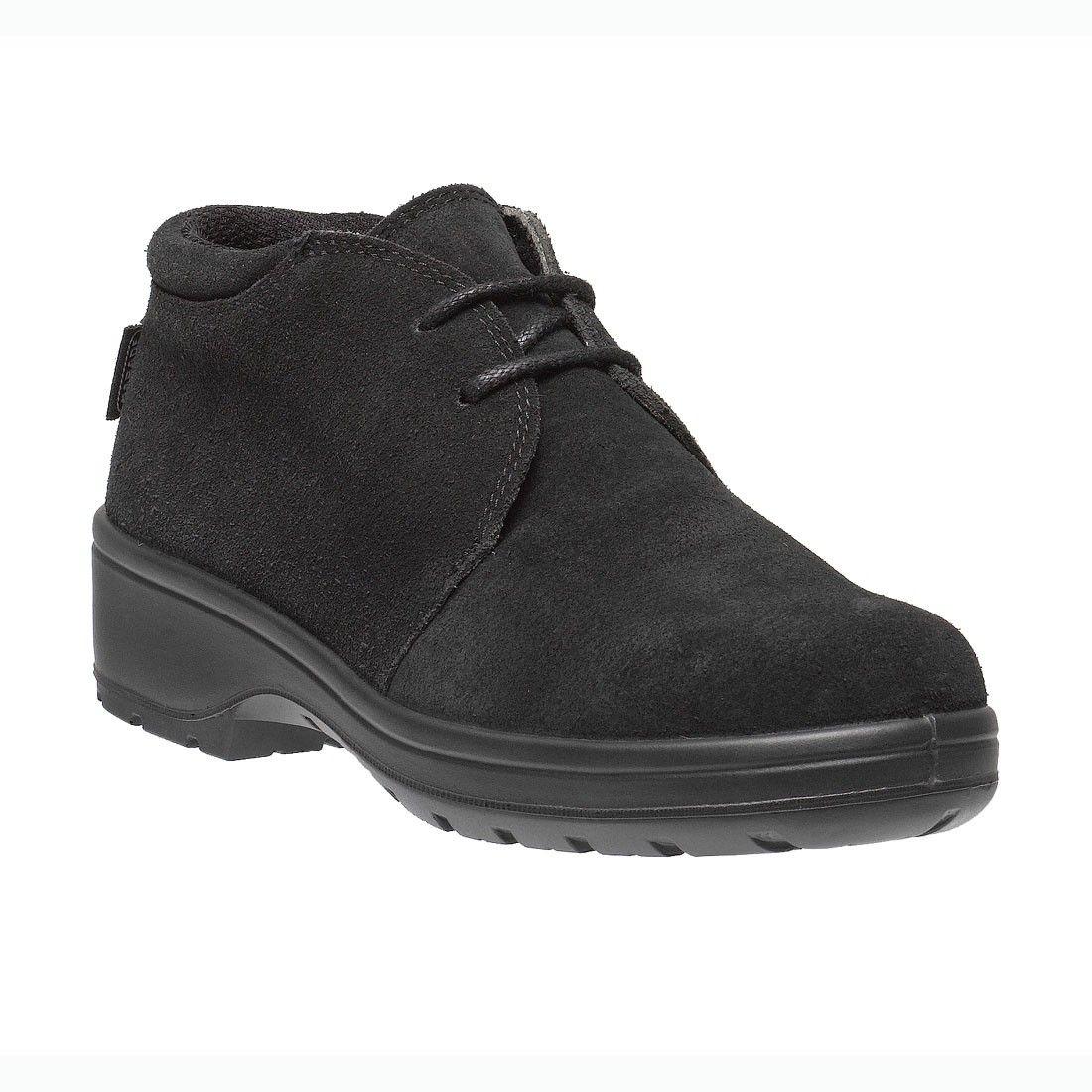 212bb00e7a0b Dana Ladies Lightweight Desert Style S3 Black Leather Safety Work Boots