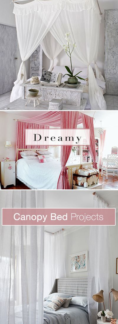 Dreamy canopy bed projects ohmeohmy diy home decor - Himmelbett diy ...