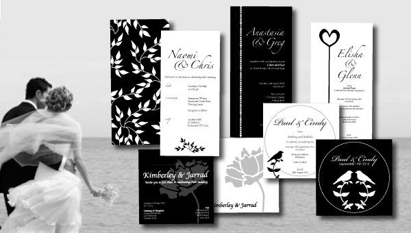 Black And White Wedding Invitations Style Easy
