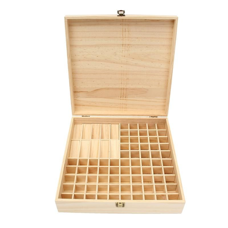 Large Flat Wooden Essential Oil Storage Box Adornos De Madera Mostradores Decoraciones De Cuartos