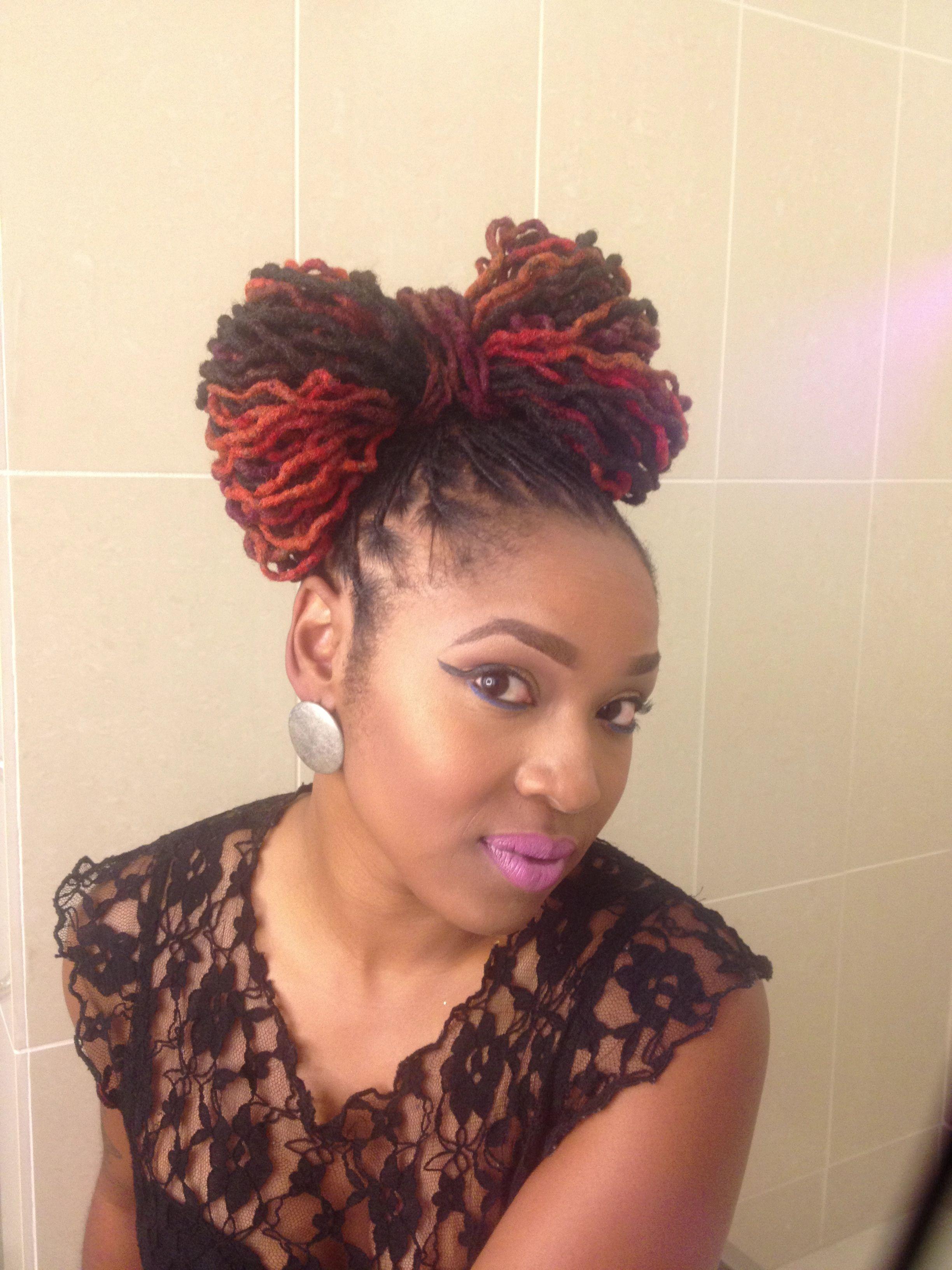 Locs Bow Tie Dreadlock Styles Natural Hair Styles