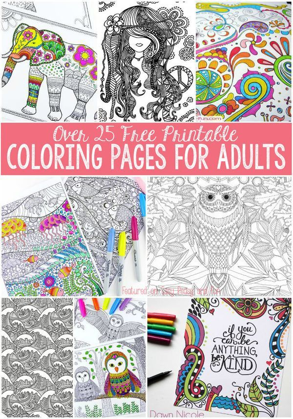 Free Coloring Pages for Adults   Colorin, Colorear y Mandalas
