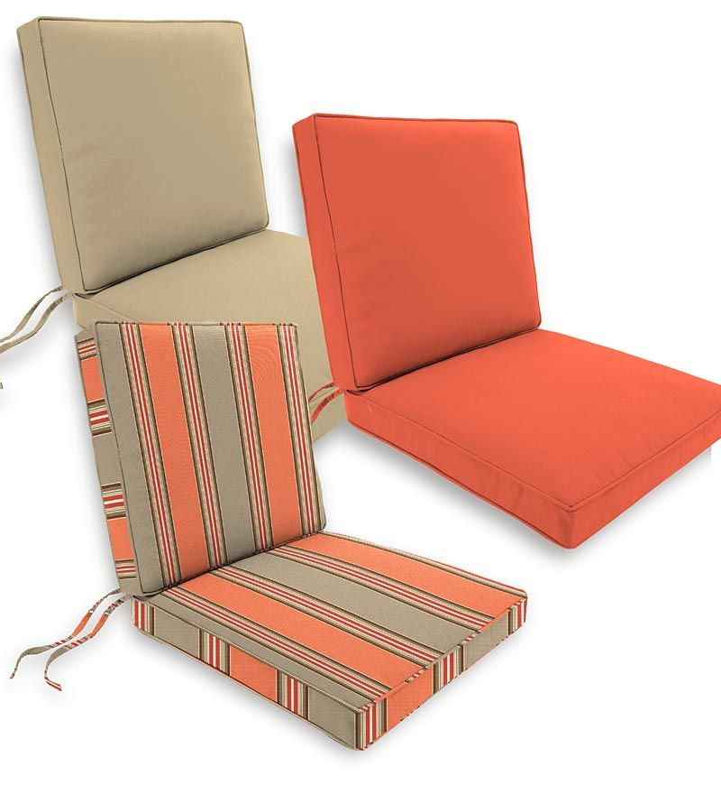 Attrayant Deluxe Sunbrella™ Seat/Back Cushions With Ties: Top Quality, All Weather  Fabric Stays Bright, Resists Fading And Mildew.