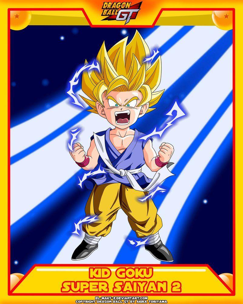 DBGT-Kid Goku SSJ2 by el-maky-z.deviantart.com on @DeviantArt