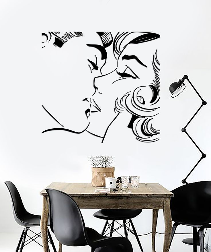 Best Wall Sticker Kiss Kissing Couple Romantic Love Decor For 400 x 300