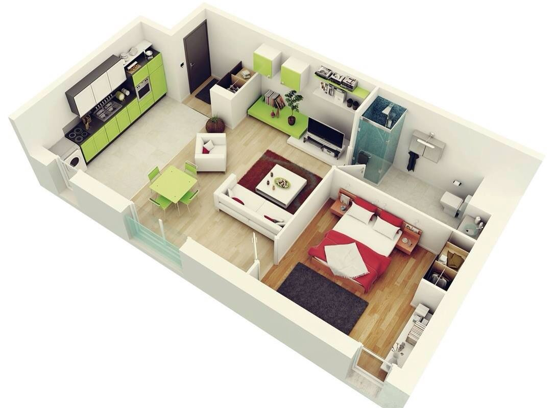 Pin By Esme Fouche On Top Secret One Bedroom House Studio Apartment Floor Plans 1 Bedroom House Plans