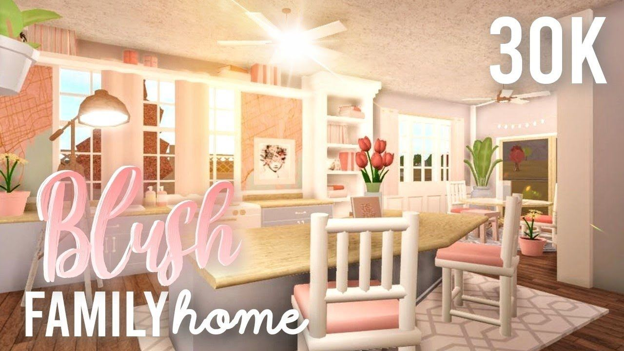 Bloxburg Blush Family Budget Home 30k House Build Youtube Building A House Roblox Bloxburg House Modern Family House Living room bloxburg blush
