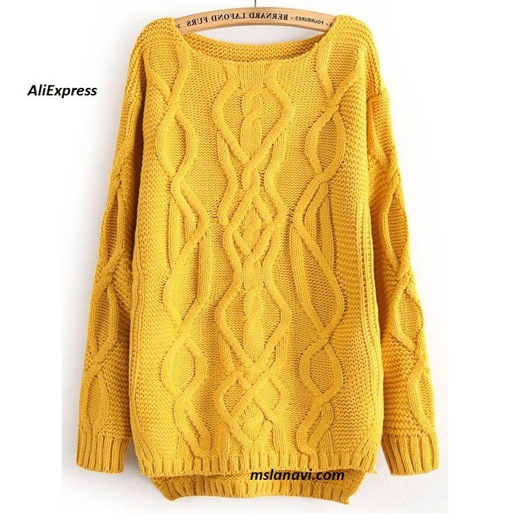 Вязаный пуловер с аранами из AliExpress… | Надо связать | Pinterest ...