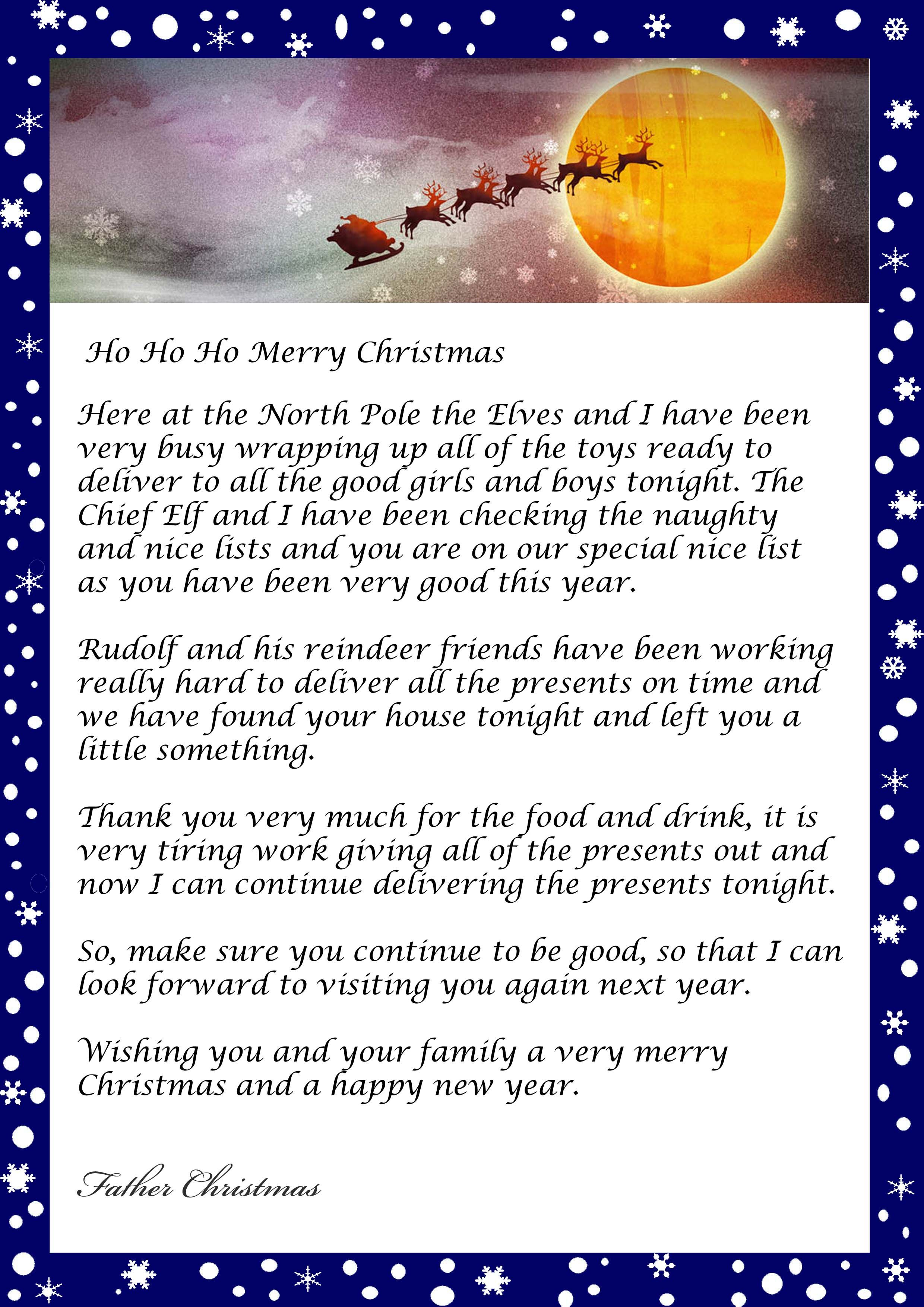 Letter from santa father christmas template for christmas eve letter from santa father christmas template for christmas eve spiritdancerdesigns Choice Image
