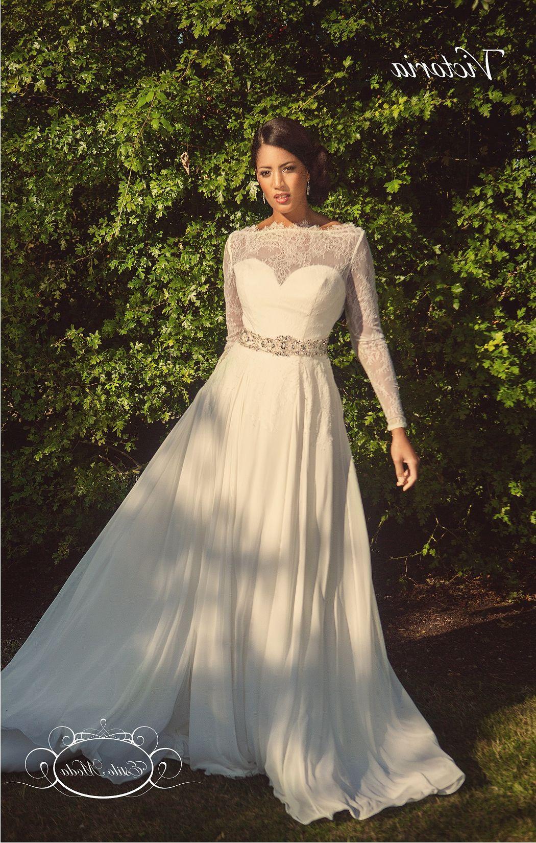 Lace Long Sleeve Flowy Wedding Dress   LongSleeve Dress   Pinterest ...