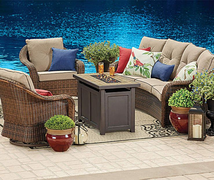 Wilson Fisher Palermo Patio Furniture With Fire Pit Collection