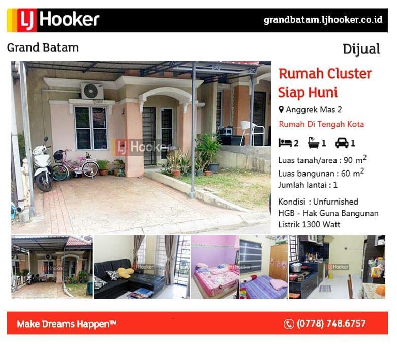 Dijual Rumah Cluster Siap Huni Anggrek Mas 2 Luas tanah