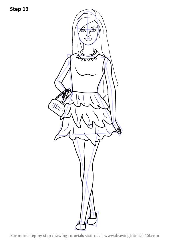 Рисунки для девочек куклы легкие