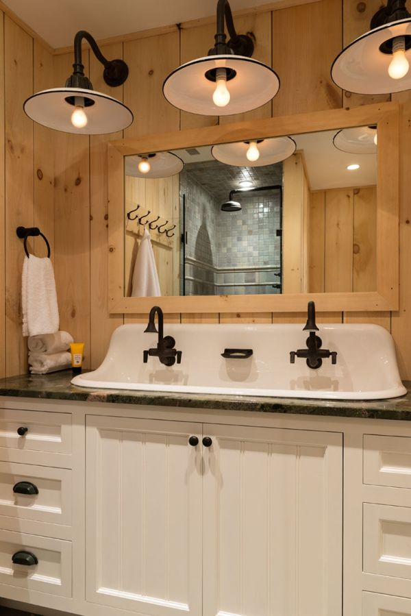 Rustic pine home project ideas pinterest pine cabin and bath rustic pine guest bathroom crisp architects this sink pat would be great in herbal kitchen mozeypictures Image collections