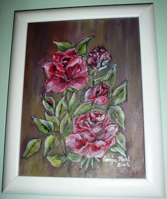 Slika z vrtnicami