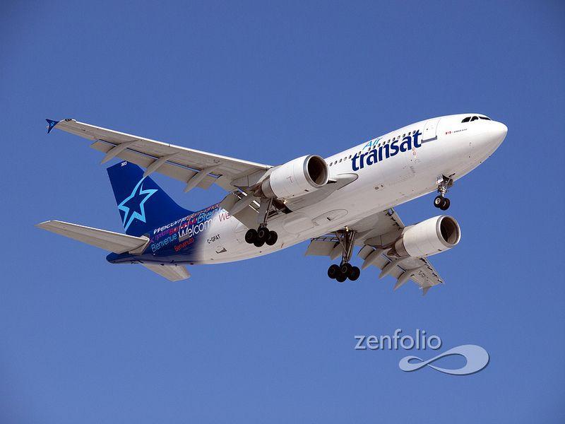 Air Transat Airbus A310 Airplane Aviation Aircraft Air Transat
