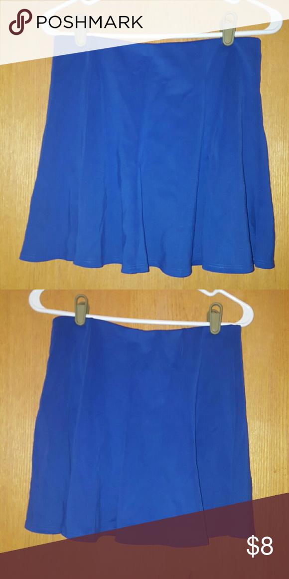 Forever 21 electric blue skater skirt Adorable flowy electric blue skater skirt! Forever 21 Skirts Mini