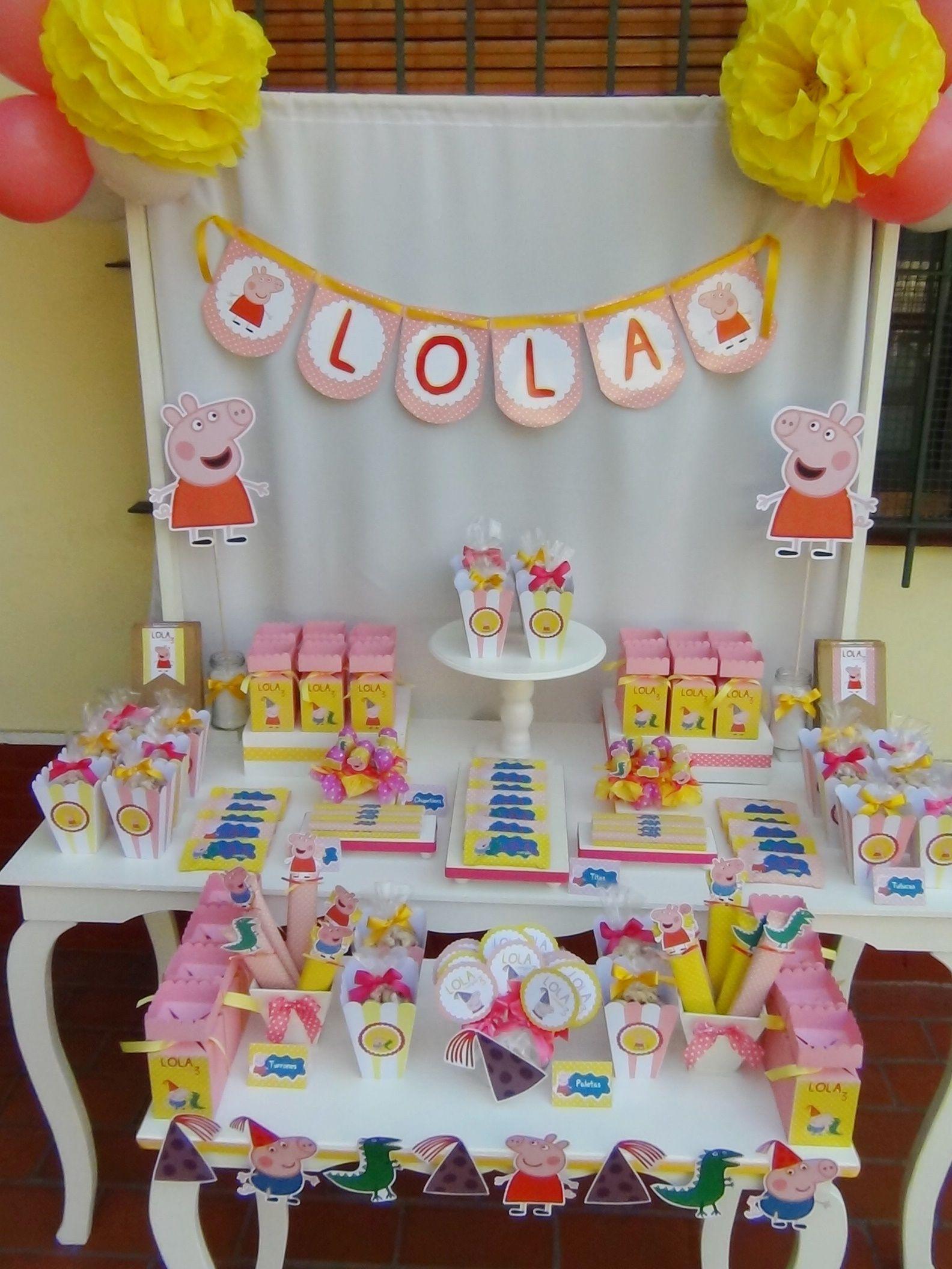 Candy Bar Peppa Pig Cajitas Golosineras Golosinas Personalizadas