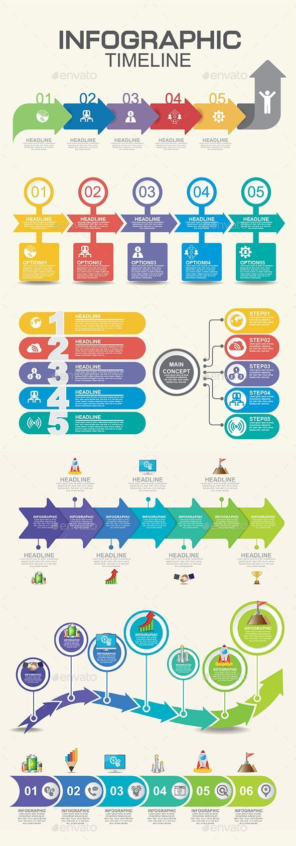 Timeline Infographic Infographics InfographicsIcons