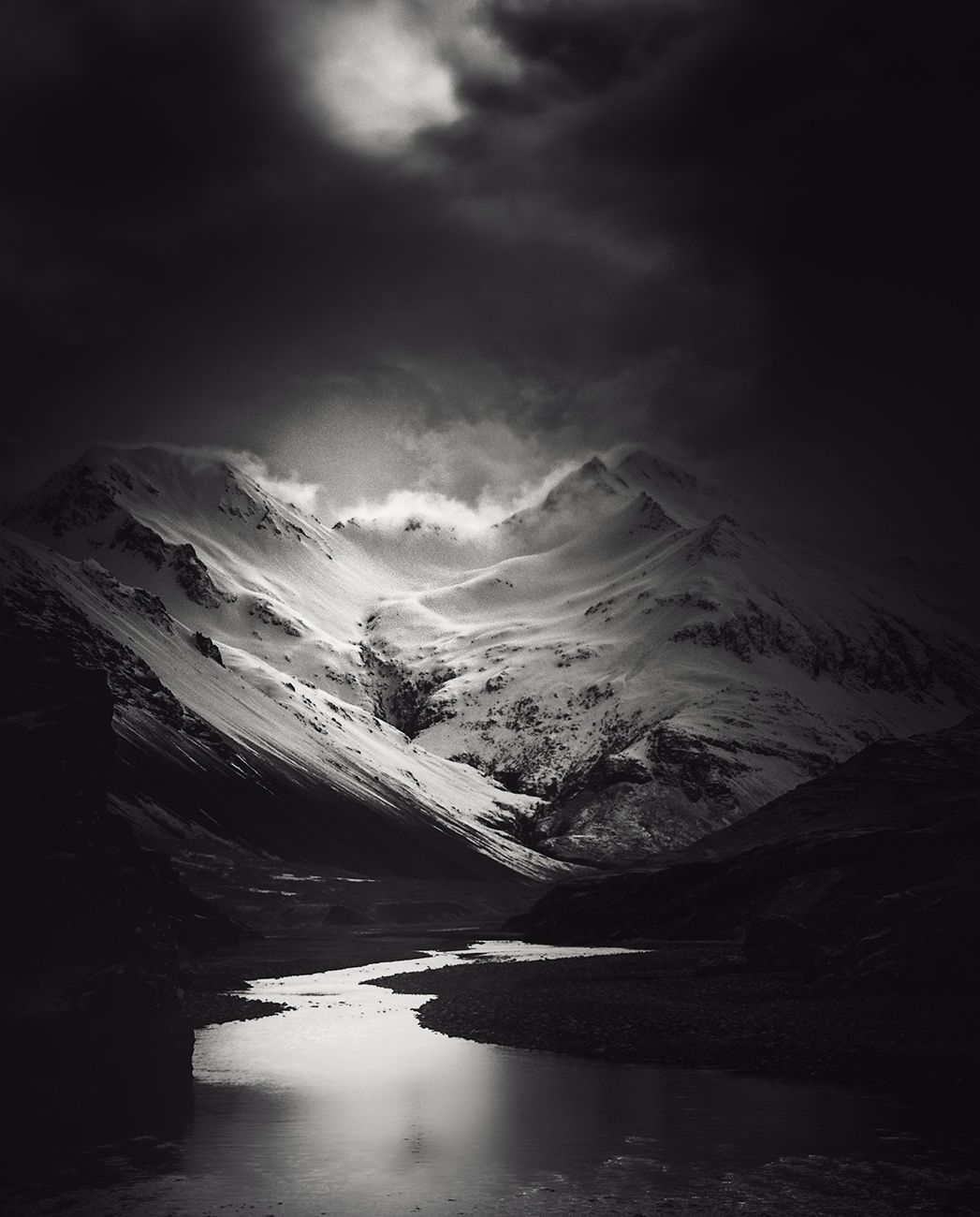 Iceland On Behance Andy Lee Black And White Landscape Black And White Photographs White Photography