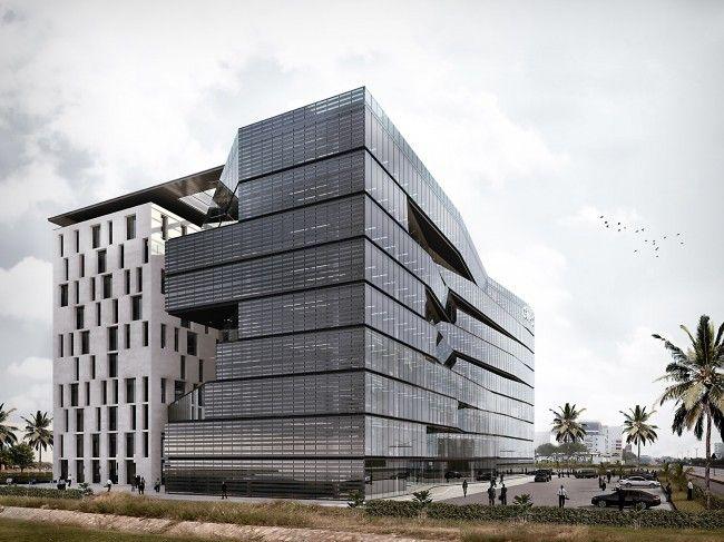 E' stato presentato  ad Accra, di fronte al gotha dell'imprenditoria ghanese, il progetto vincitore del primo premio al concorso internazionale di architettura per la progettazione del nuovo Headquarter della
