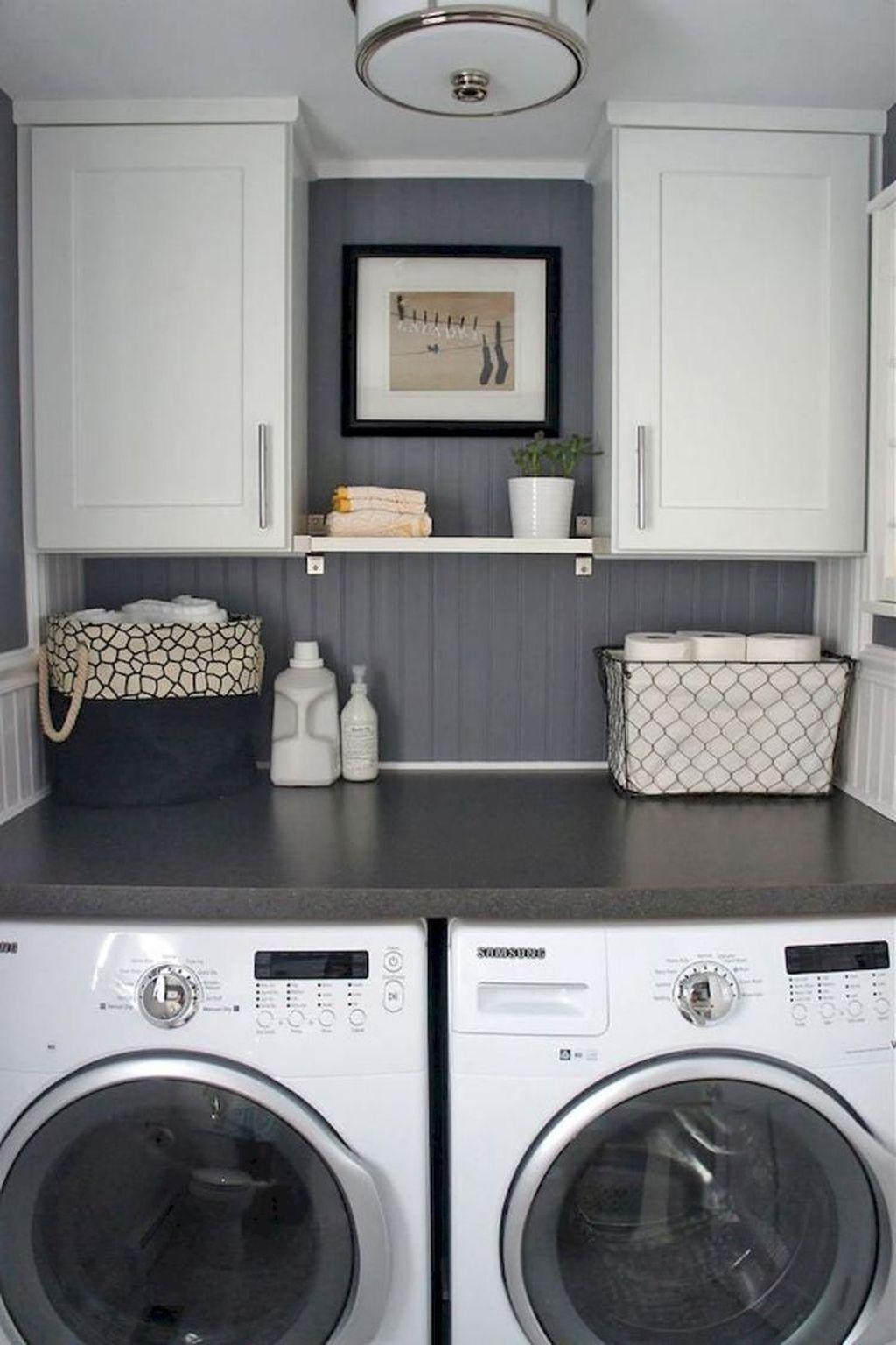 37 Awesome Farmhouse Laundry Room Decoration Ideas