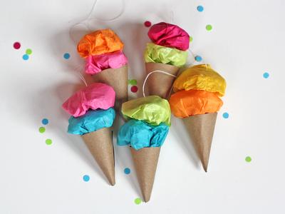 Easy Ice Cream Ornaments