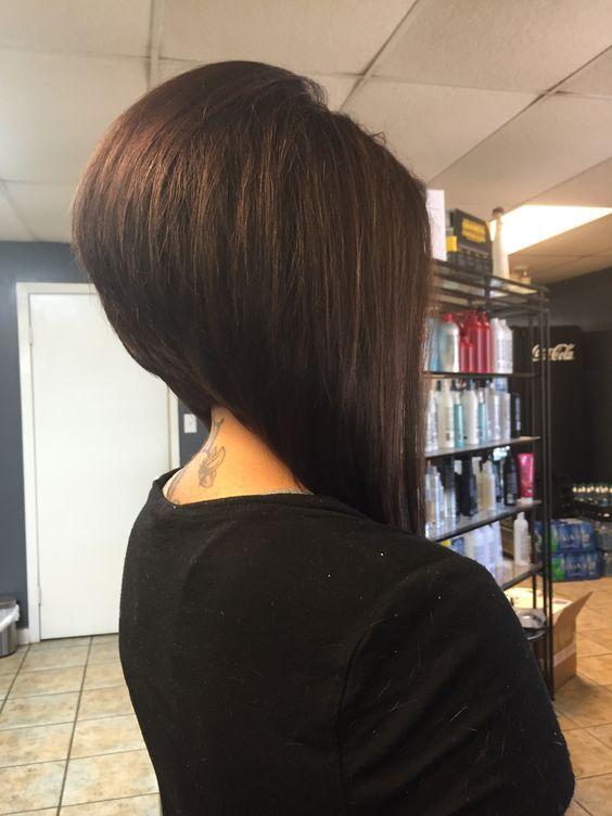 Стрижка боб средние волосы вид сзади