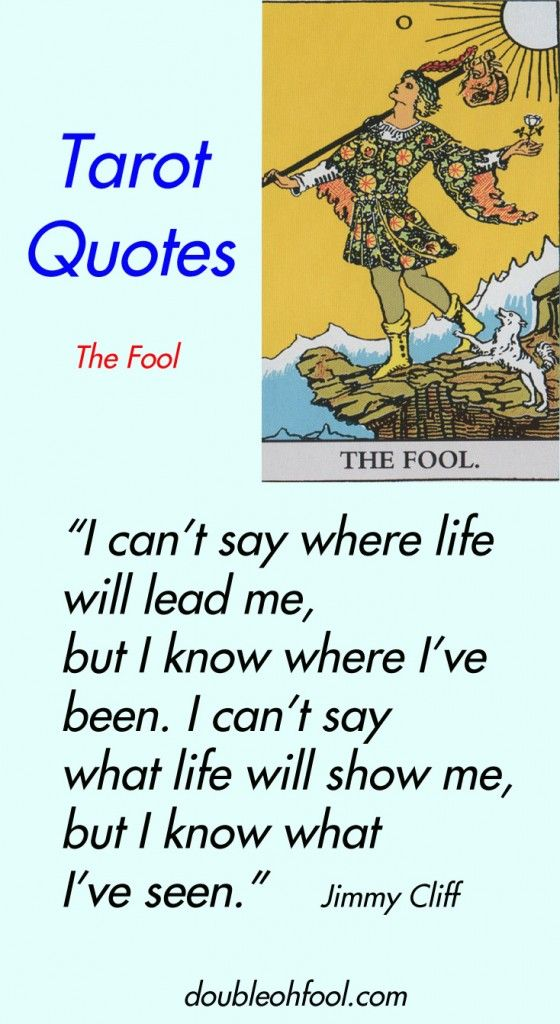 Tarot Quotes The Fool Quotes Tarot Tarot Reading The Fool
